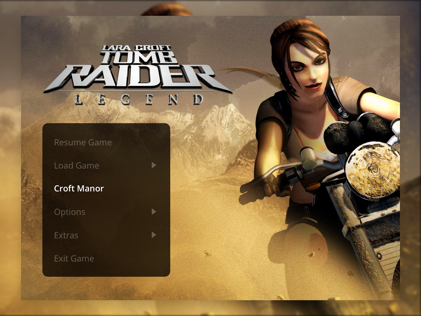 Tomb Raider: Legend Menu UI