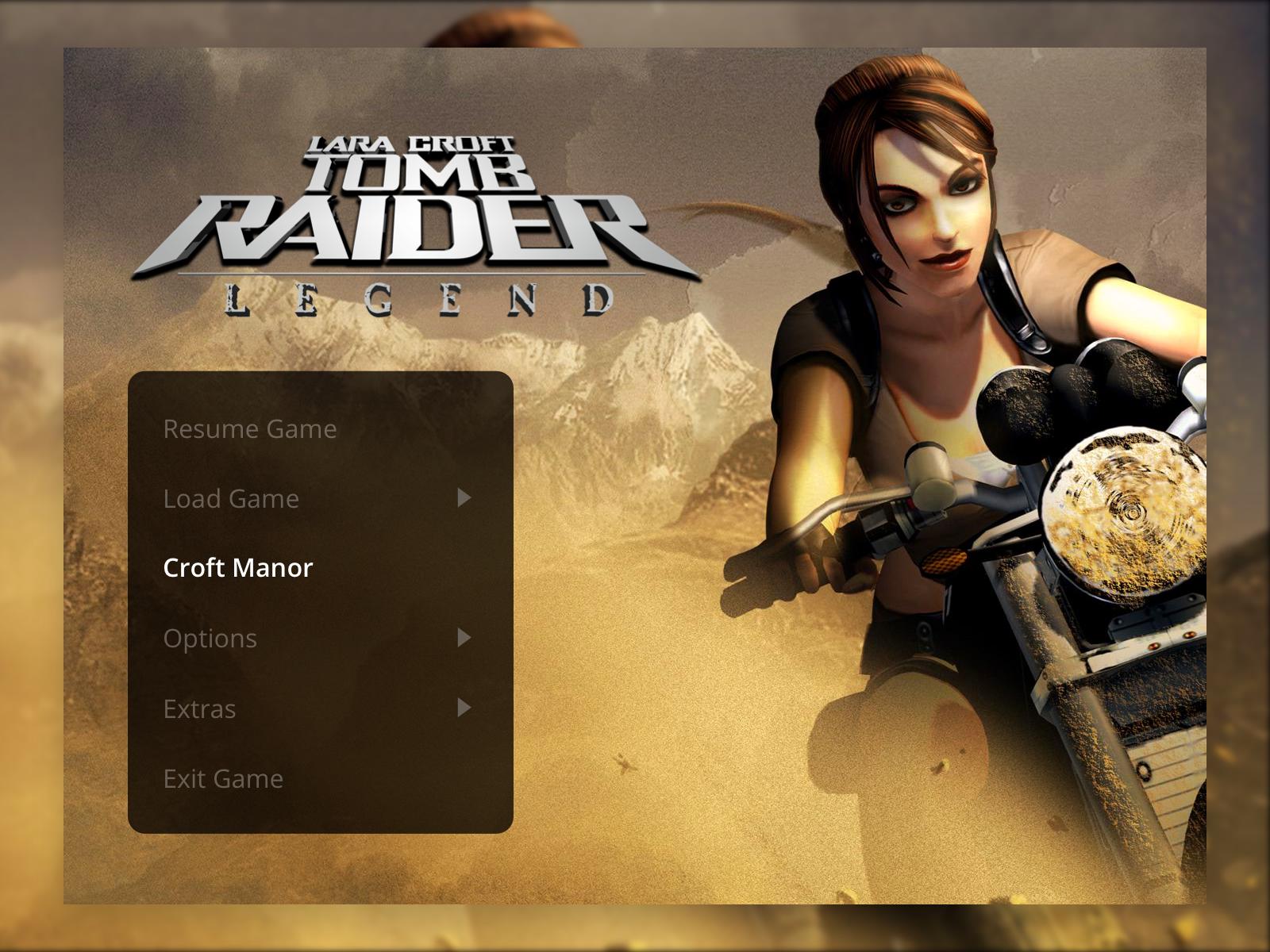 Tomb Raider: Legend Menu UI