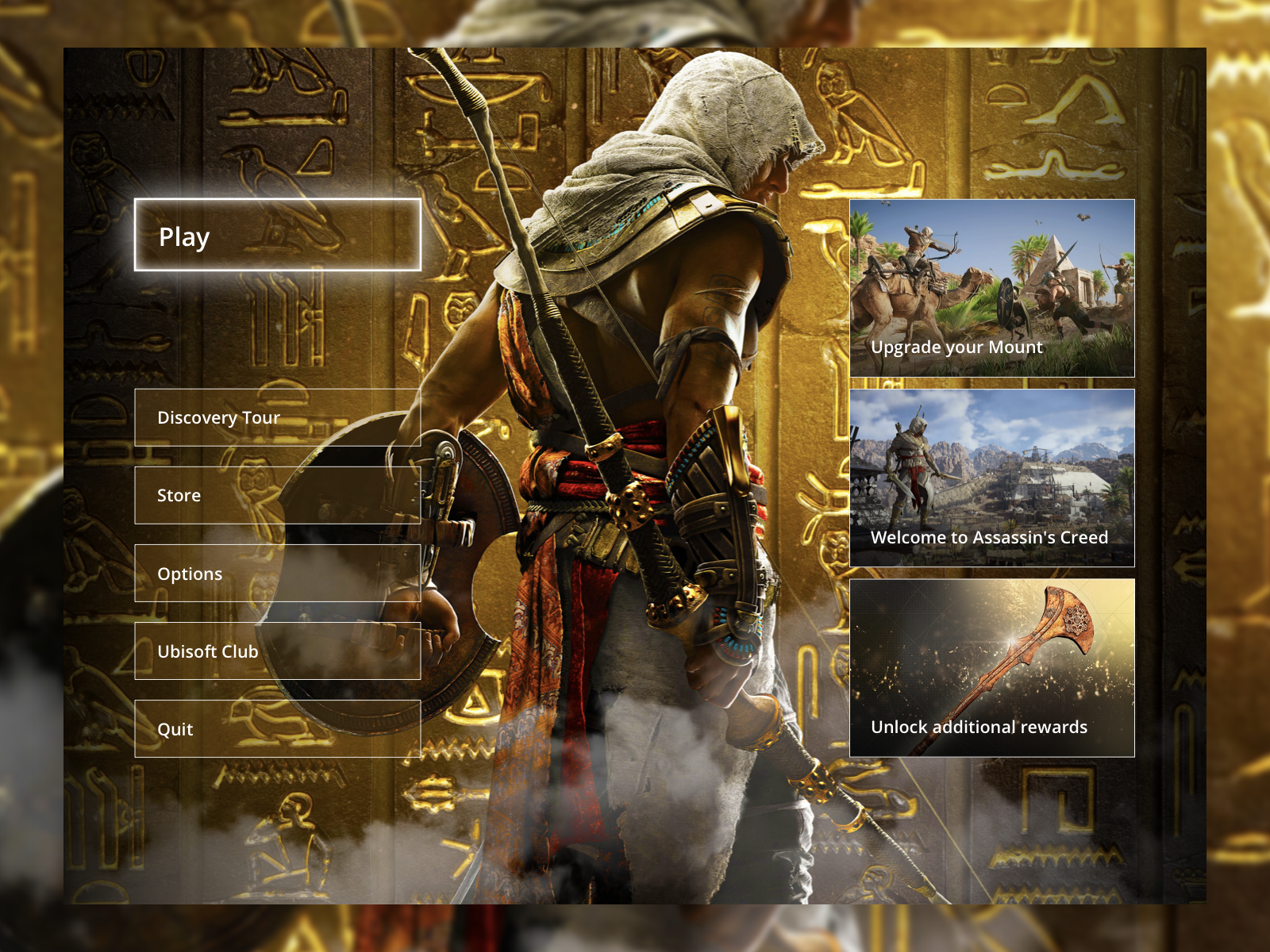 Assassin's Creed Origins Menu UI