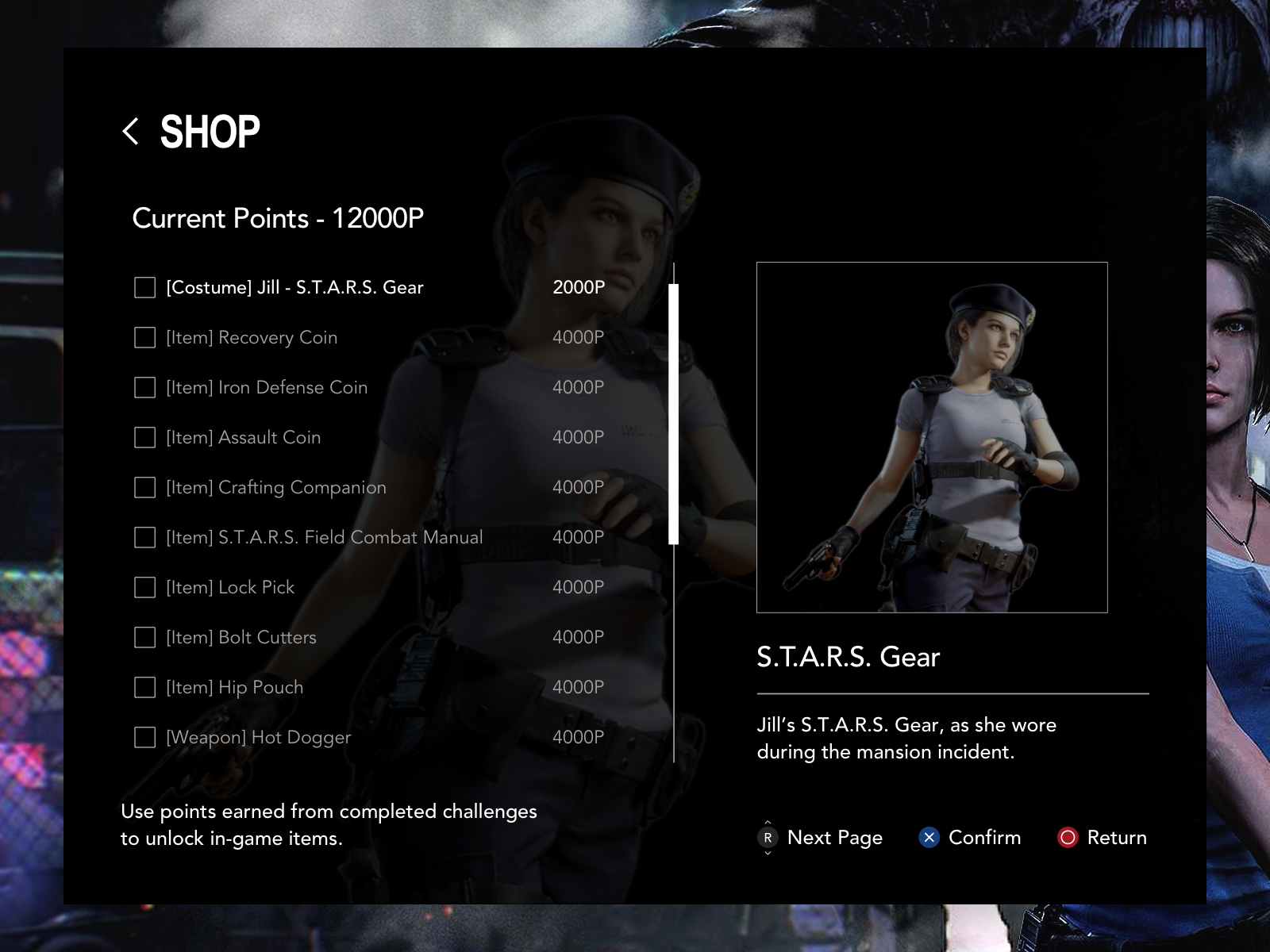 RE3 Remake Shop UI