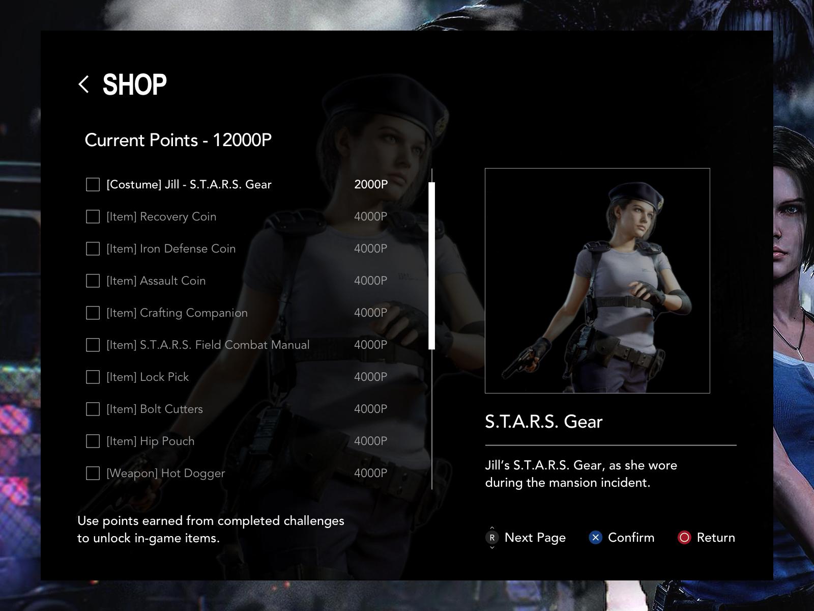 RE3 Remake Shop UI