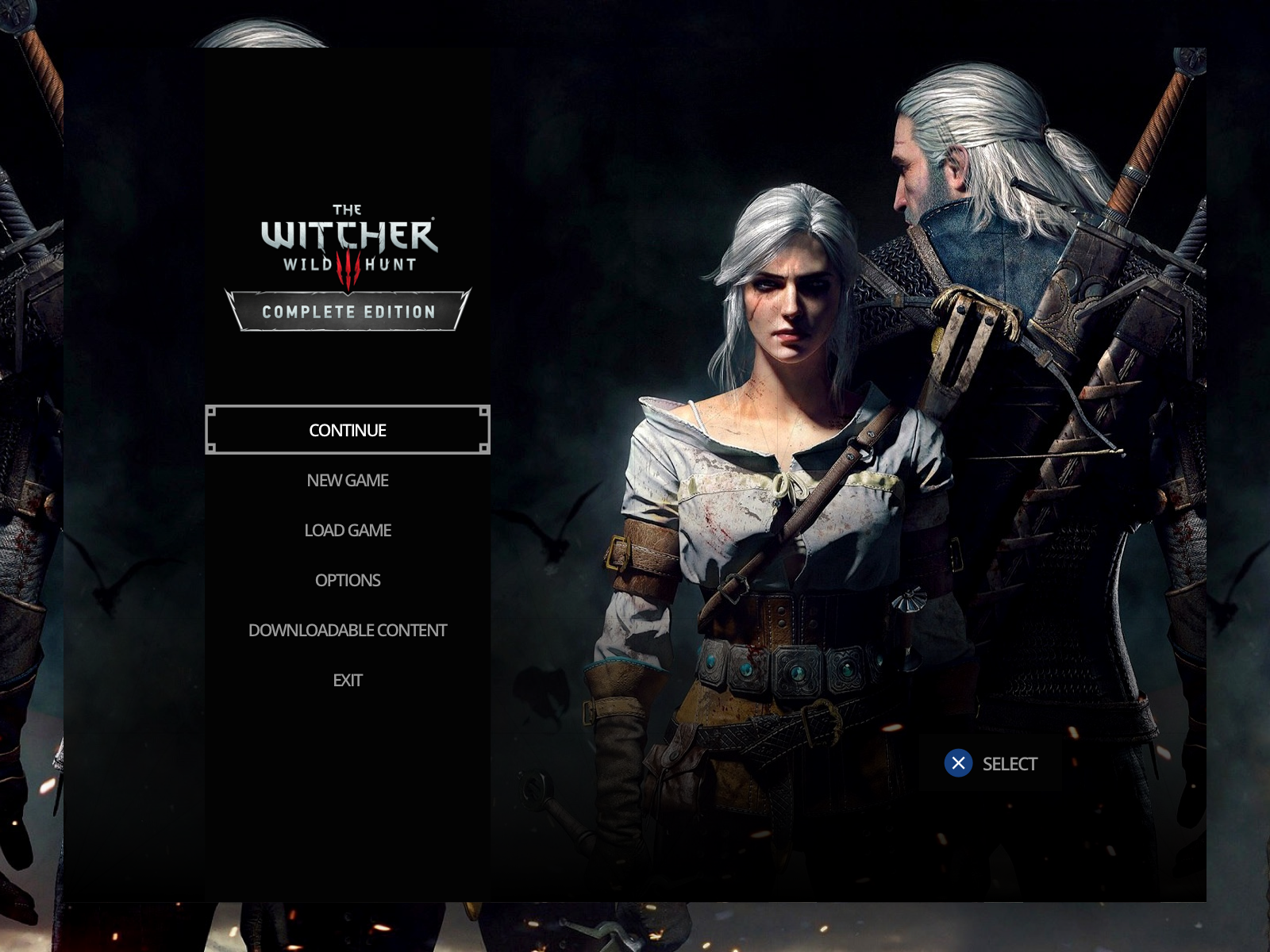 The Witcher 3: Wild Hunt Menu UI