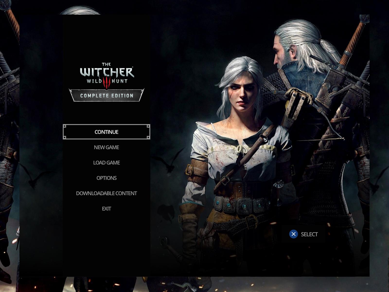 The Witcher 3: Wild Hunt Menu UI