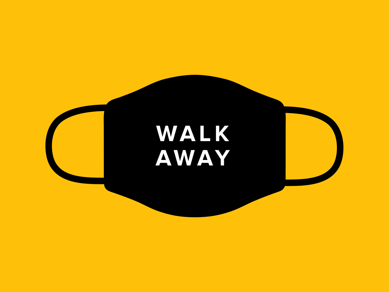 Design For Good Face Mask - Walk Away