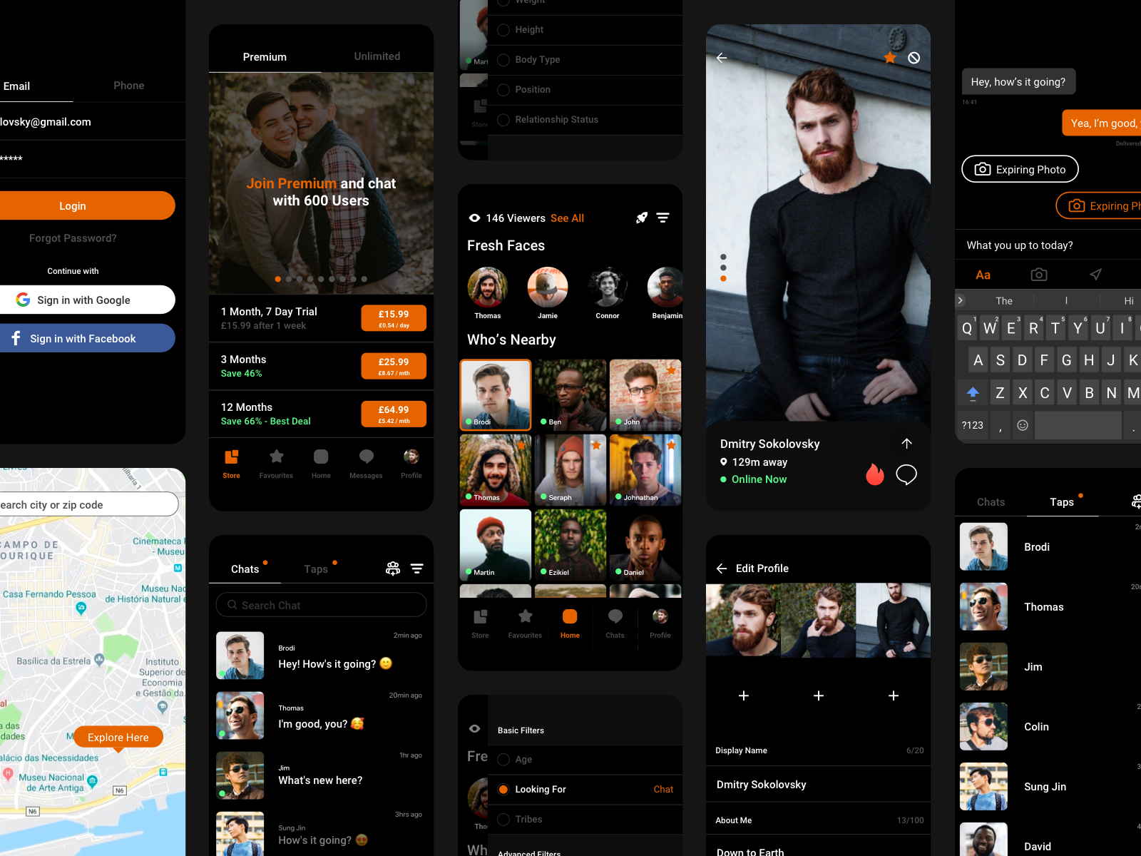 Grindr UI - Android