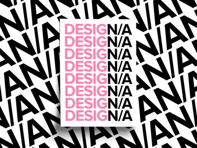 Design N/A simple clean type design print design print poster series poster collection posters poster pink black white not applicable sans serif type typography poster design graphic design design