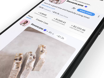 Flick - The BitClout App Launch Preview cryptocurrency blockchain ux ui design animation profile bitcoin crypto community social ios iphone product design user interface ux design ui design social media bitclout video