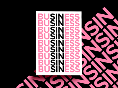Business typography art print design print font art sans serif font type art type typography clean simple pink white black sin business poster series poster collection posters poster