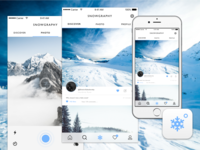 Snowgraphy Concept UI