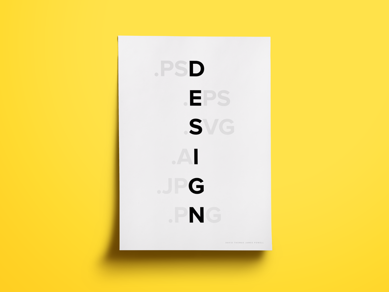 Design poster design simple type typography clean monochrome yellow black black and white sans serif bold