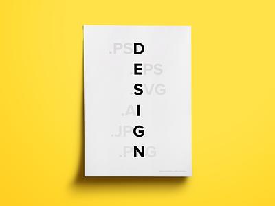 Design poster design simple type typography clean monochrome yellow black black and white sans serif bold