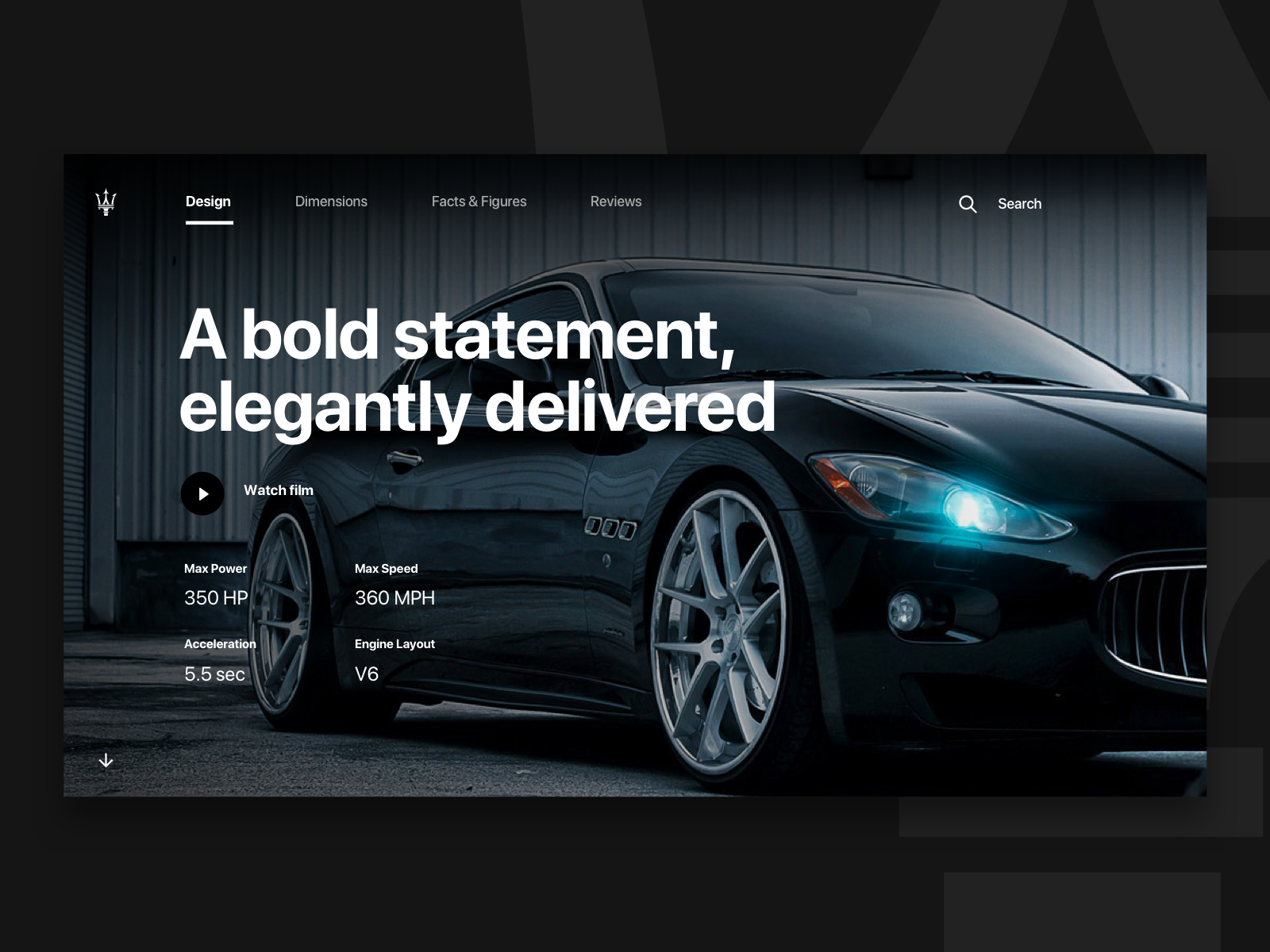 Maserati Website Concept