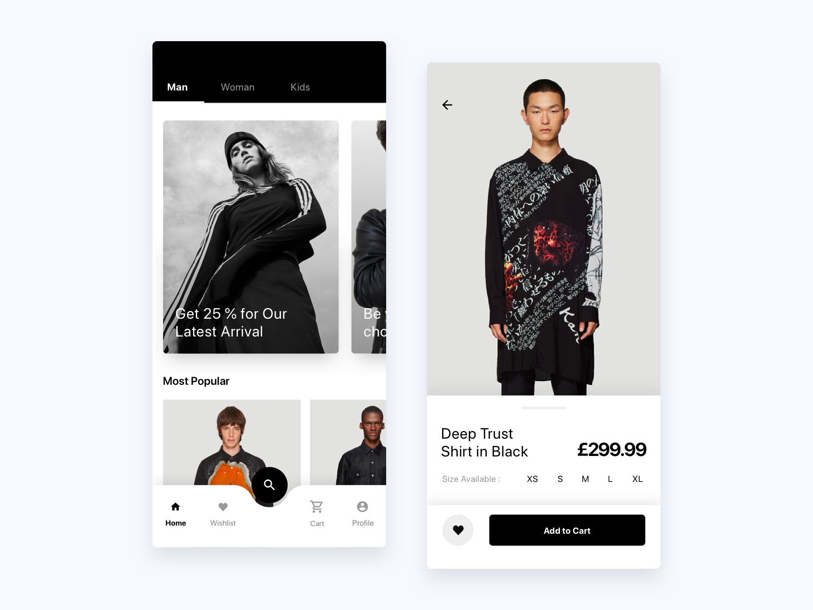 E-Commerce UI Concept