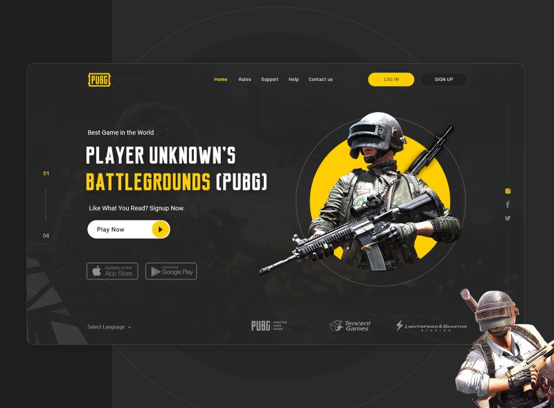 PUBG Banner best banner design entertainment games gaming banner gaming website creative design banner design