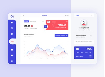 Trading dashboard design