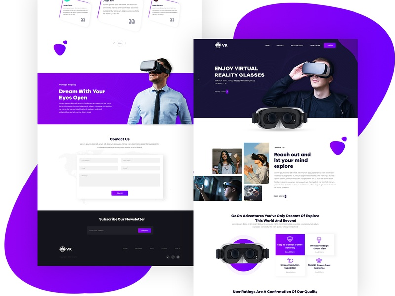 Vr Landing Page single product page design single product single page design single page product home page product landing page product page tecnology vr design landing page template landing page design landing page ui landing page