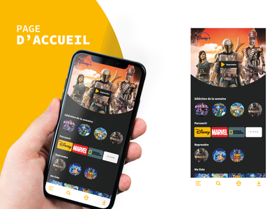 Projet Disney + phone brand web branding app company design ui ux visual