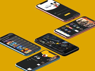 Projet Disney + branding web app company identity design ui ux brand visual