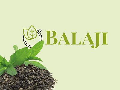 balaji vector logo identity branding tea tea logo brand design tea cup