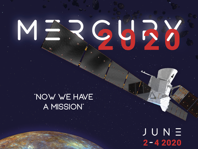 MERCURY2020 poster a day espace equinox desgin visual cnrs bepicolombo mercure mission space conference conférence colloque poster affiche