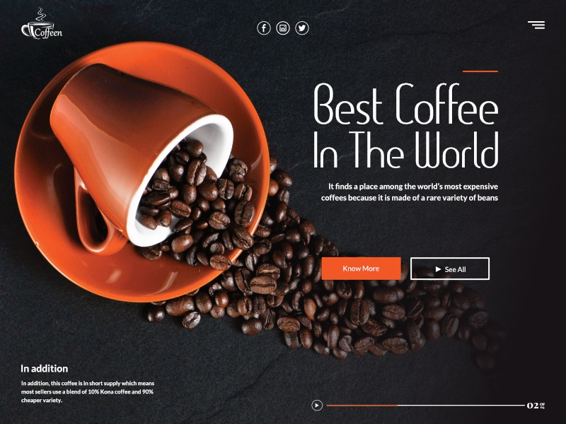 Best coffee in the world - Landing page inspiration website concept grid homepage website vector web  design ui  ux typography logo landing page design system colorful design dark colorful branding