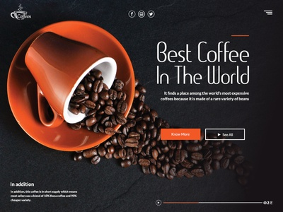 Best coffee in the world - Landing page