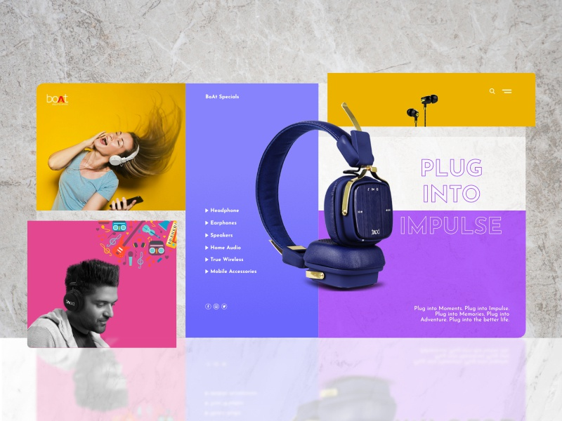 BoAt web interface design systems color theory colors web design typography grid inspiration e-commerce gredient ecommerce design ui ux design system website landing page