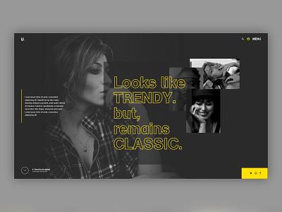 Trendy classy trendy fashion dark interface inspiration fashion design woman girl web ux typography branding ui website design system e-commerce ecommerce design landing page