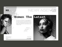 Nexer Modeling Agency Landing Page