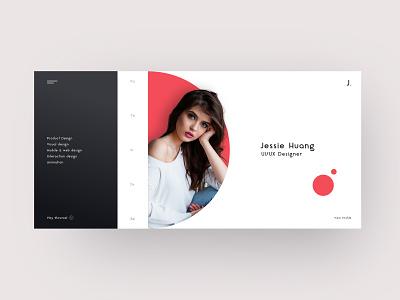 Portfolio simple profile interface designer design art landing page website portfolio