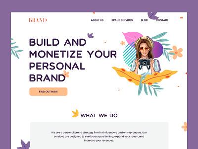 Branding grid agency inspiration design system branding ux illustration interface ui landing page website