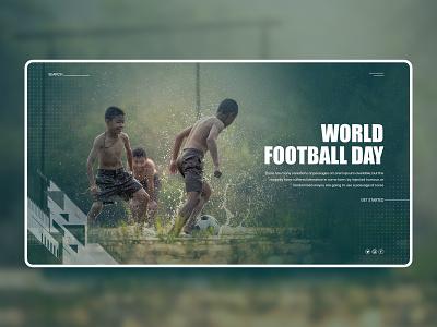 World Football Day template theme grid children village ux design system interface inspiration website ui world football day landing page football
