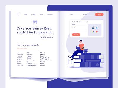 Library App bookapp bookshelf bookstore books design ecommerce branding design system interface ui inspiration landing page website