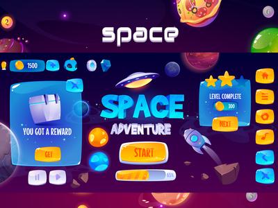 Space adventure graphics game