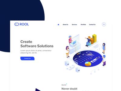 ROOL website concept website design