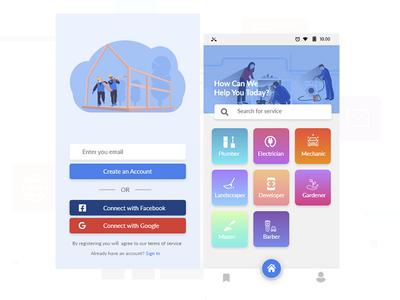 Service Finder app cleaner finder app electrician finder app plumber finder app service app finder service app