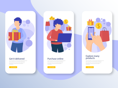 Delivery Onboarding Screens onboarding screen delivery app food app ecommerce