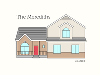 House Vector Dribbble Color