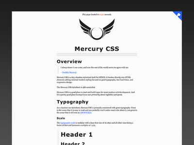 Mercury CSS - Classless Stylesheet