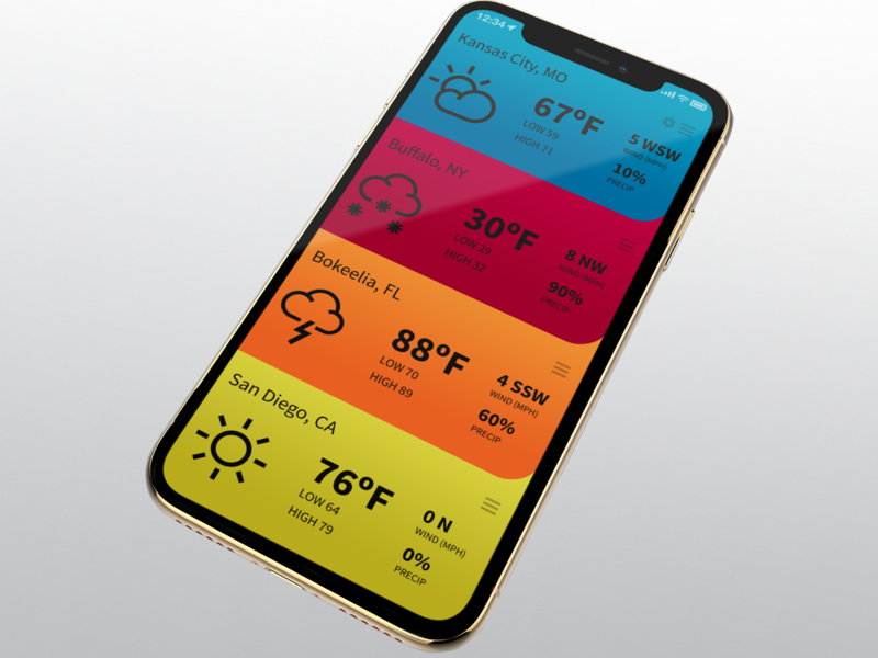 Jet Set Weather App by Wade Meredith on Dribbble