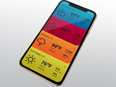 Jet Set Weather App iphone xs ux mobile design concept black dark typography oled ios weather ui app