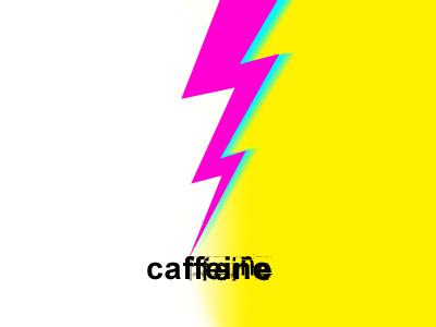 Caffeine bolt jitters strike lightning electric stimulant