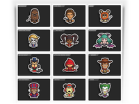 Simple Toons Sticker Designs