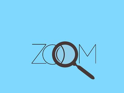 Simple typography Logo - Zoom flat logo vector typography