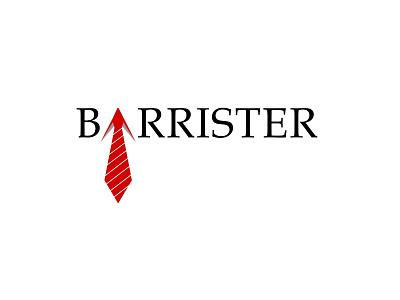 Barrister tie type branding vector flat logo typography