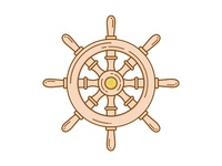 Captain's Wheel Illustration