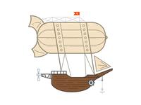 Airship's Airship Illustration