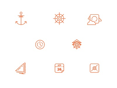 Airship Website Icons iconography icons