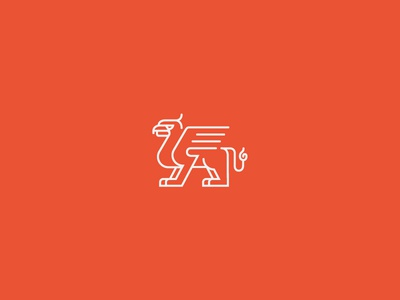 My New Logo beast mythical beast branding matt perrault griffin new logo gryphon griffon