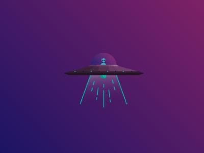 UFO gradient space alien ufo